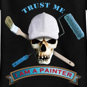 painter_skull_brush_092016_b T-Shirts - Kinder T-Shirt