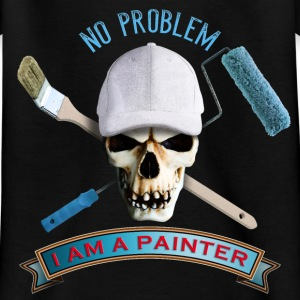 painter_skull_brush_092016_a T-Shirts - Kinder T-Shirt