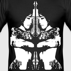tattoo girl T-Shirts - Men's Slim Fit T-Shirt