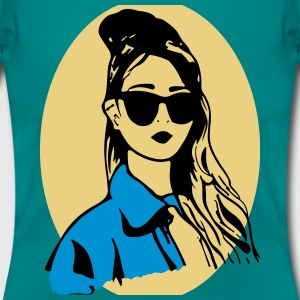 girl illustration Camisetas - Camiseta mujer