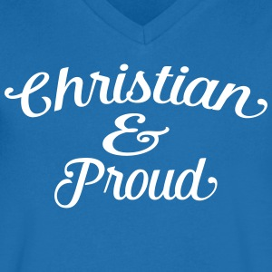 christian and proud Tee shirts - T-shirt Homme col V