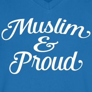 muslim and proud Tee shirts - T-shirt Homme col V