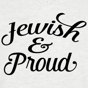 jewish and proud Tee shirts - T-shirt Homme col V