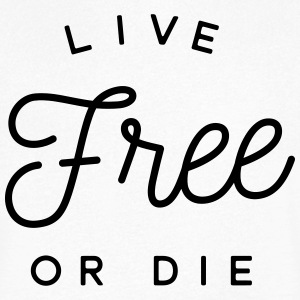 live free or die Tee shirts - T-shirt Homme col V