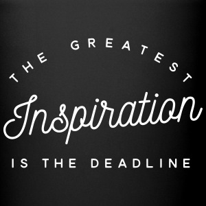The greatest inspiration is the deadline Bouteilles et Tasses - Tasse en couleur