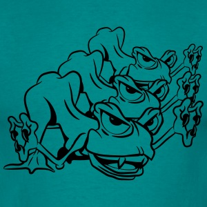 Monster funny frogs attack T-Shirts - Men's T-Shirt