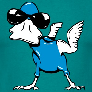 Monster funny duck bird sunglasses T-Shirts - Men's T-Shirt
