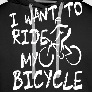 i want to ride my bicycle Pullover & Hoodies - Männer Premium Hoodie