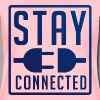 STAY CONNECTED / T-SHIRT SLIMFIT LADY #2 - Vrouwen Premium T-shirt