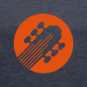 Six String Guitar - Women's T-shirt with rolled up sleeves