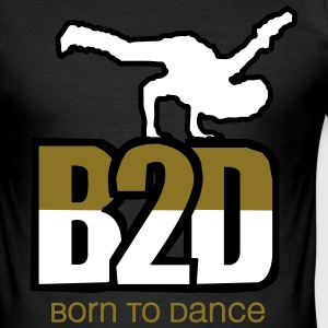 born to dance (hiphop) T-Shirts - Männer Slim Fit T-Shirt