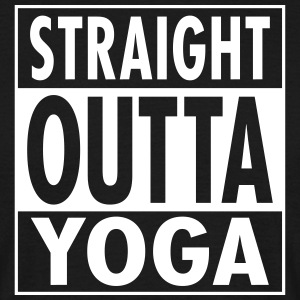 Straight Outta Yoga T-Shirts - Men's T-Shirt