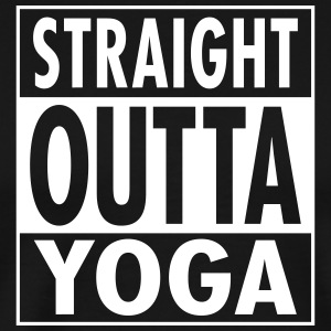 Straight Outta Yoga T-shirts - Mannen Premium T-shirt