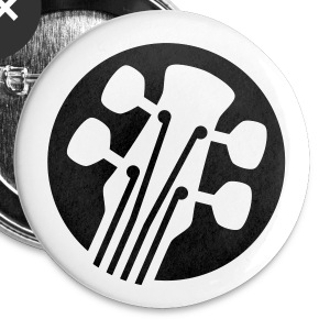 Six String Guitar Badge - Buttons small 25 mm