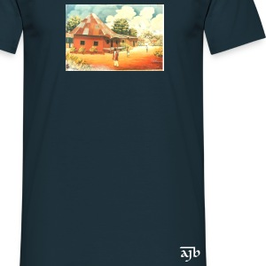 Rural African Village Scene Black T Shirt - Men's T-Shirt