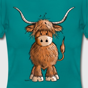 Scottish Highland Cattle Tee shirts - T-shirt Femme