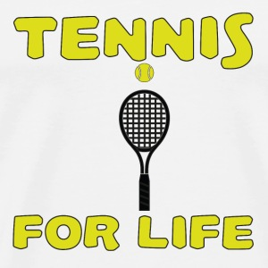 Tennis for life T-shirts - Mannen Premium T-shirt