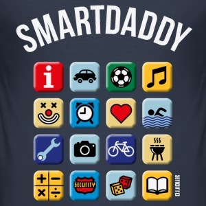 Smartdaddy (Daddy / Dad / NEG / PNG) T-Shirts - Men's Slim Fit T-Shirt