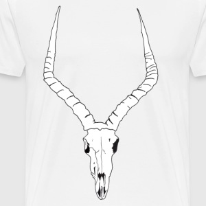 Antelope ANIMAL skull - Men's Premium T-Shirt