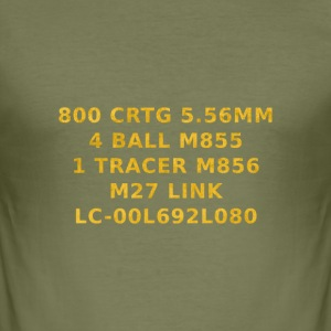 556 ammo can shirt T-Shirts - Men's Slim Fit T-Shirt
