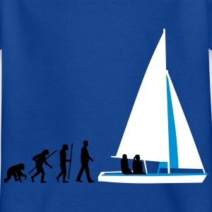 evolution_des_mannes_segelboot_b_3c T-Shirts - Kinder T-Shirt
