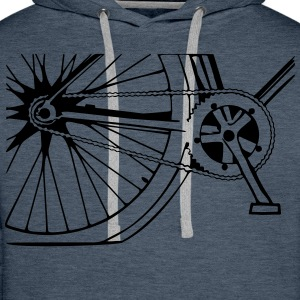 Fahrrad Sweat-shirts - Sweat-shirt à capuche Premium pour hommes