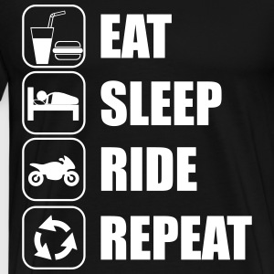 Eat,sleep,ride,repeat - Herre premium T-shirt