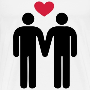 Gay Love Gay Pride  - Men's Premium T-Shirt