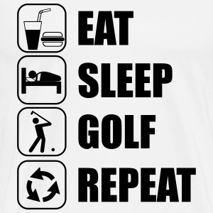 Eat,sleep,Golf,repeat, Golf t-shirt - Herre premium T-shirt