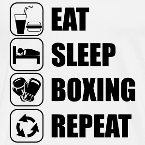 Eat,sleep,boxing ,repeat, Box t-shirt - Camiseta premium hombre