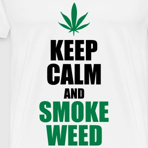 Keep calm and smoke weed - Maglietta Premium da uomo