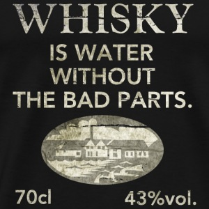 Whisky is water, shabby chic T-Shirts - Men's Premium T-Shirt