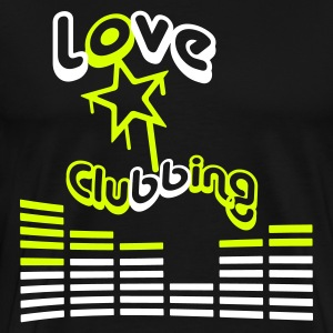 I love clubbing - Men's Premium T-Shirt