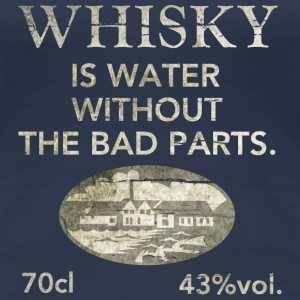 Whisky is water, shabby chic Camisetas - Camiseta premium mujer