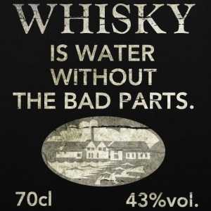Whisky is water, shabby chic Sacs et sacs à dos - Tote Bag