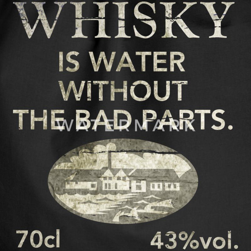 Whisky is water, shabby chic - Turnbeutel
