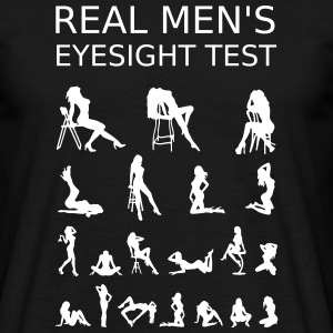 Real Mens Eyesight Test T-Shirts - Männer T-Shirt