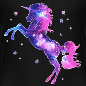 Einhorn, unicorn, space, Sterne, Fantasy, galaxy,  T-Shirts - Kinder Premium T-Shirt