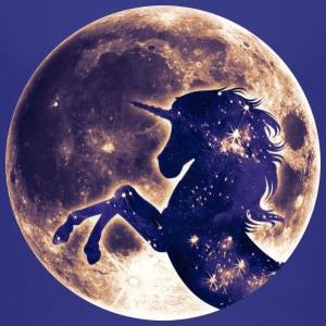 Unicorn full moon, enhörning fullmåne, fantasy T-shirts - Premium-T-shirt barn
