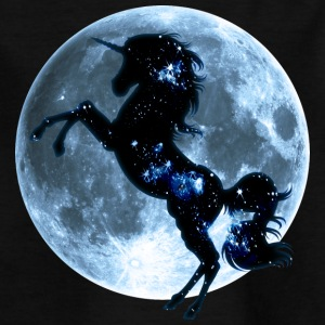 Unicorn, fullmoon, moon, fantasy, magic, space  - Kids' T-Shirt