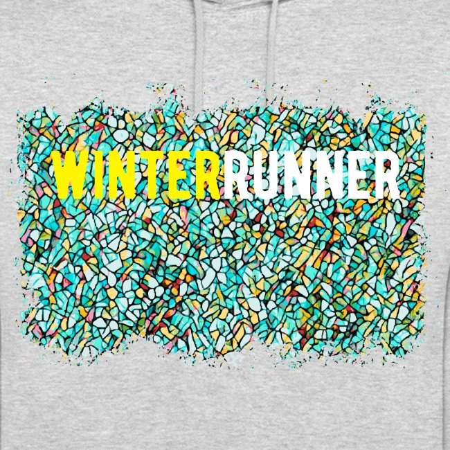 Emerald Winter Run Mosaic Hoodie
