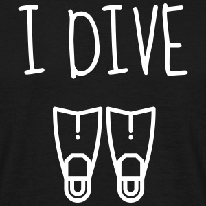 dykning / dykare / diving / simning T-shirts - T-shirt herr