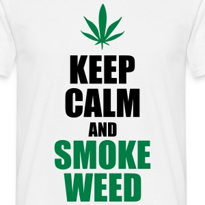 Keep calm and smoke weed - T-shirt Homme