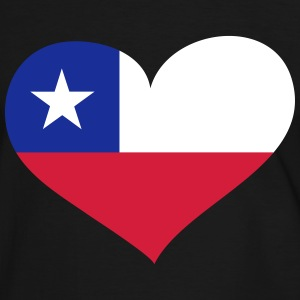Chile Herz; Heart Chile T-shirts - Herre kontrast-T-shirt