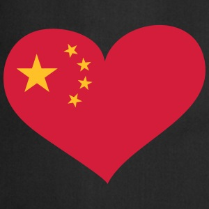 China Herz; Heart China Kookschorten - Keukenschort