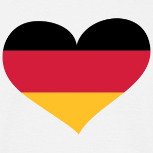 Deutschland Herz; Heart Germany Tee shirts - T-shirt Homme