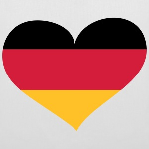 Deutschland Herz; Heart Germany Bags & Backpacks - Tote Bag