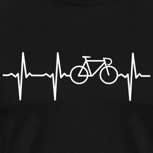 Heartbeat - Bicycle Camisetas - Camiseta premium hombre