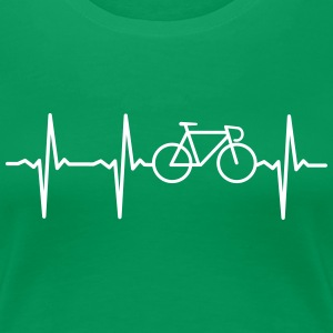 Heartbeat - Bicycle T-Shirts - Women's Premium T-Shirt