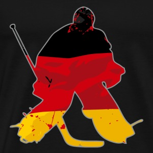 Hockey Keeper - German Flag T-Shirts - Männer Premium T-Shirt